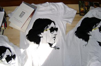 "West Coast band Princeton's Virginia Woolf t-shirt produced in conjunction with their 2008 debut album ""Bloomsbury"""